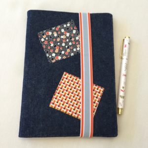 Handmade fabric journal