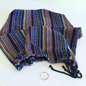 Large Handmade Yarn Sack - Mexican Poncho