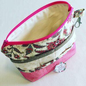 Handmade Bag Organiser - Country Cream (Pink)